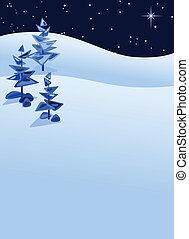 abstrakcyjny, zima krajobraz