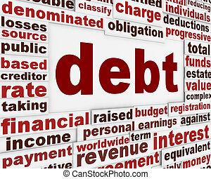 afisz, dług, finansowy