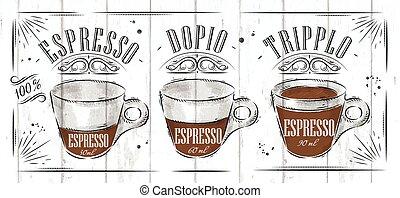 afisz, espresso