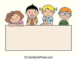 afisz, grupa, dzieci