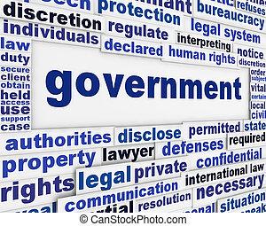 afisz, pojęcie, rząd