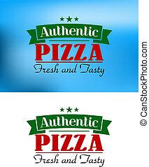 afisz, włoski, retro, pizza
