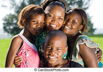 afrykanin, dzieci, macierz