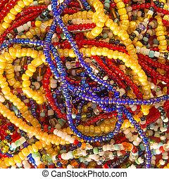 afrykanin, naszyjniki, perła
