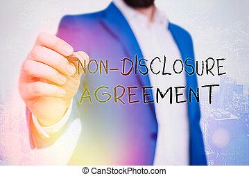 agreement., prawny, information., tekst, ujawnienie, nie, treść, poufny, tworzywo, pojęcie, pismo, albo, kontrakt