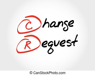 akronim, cr, -, prośba, zmiana