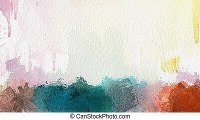 akwarela, abstrakcyjny, tło