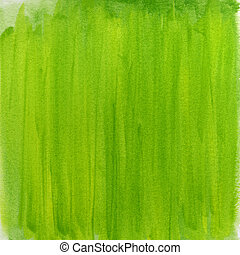 akwarela, abstrakcyjny, zielony, wiosna, tło