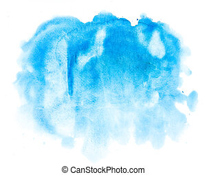 akwarela, błękitny, abstrakcyjny, tło