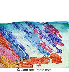 akwarela, barwiony, abstrakcyjny, tło