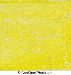 akwarela, płótno, żółty, abstrakcyjny, struktura