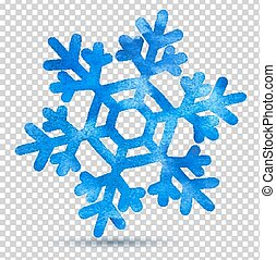 akwarela, snowflake.