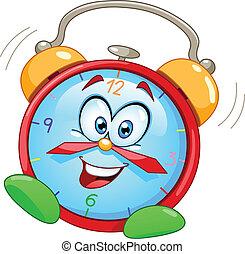alarm, rysunek, zegar