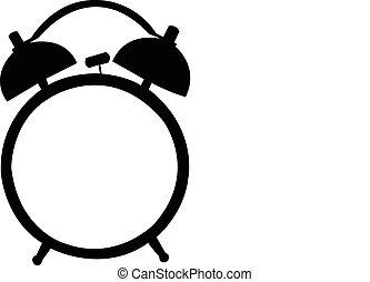 alarm, sylwetka, clock., klasyk