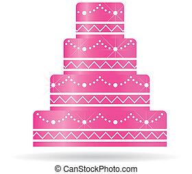albo, ciastko, zaproszenia, card., ślub, różowy