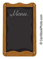 albo, deska, zewnątrz, menu, restauracja