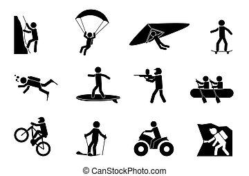 albo, lekkoatletyka, przygoda, ekstremum, ikony