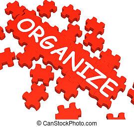 albo, organizować, organizatorski, zagadka, widać, rozmieszczając