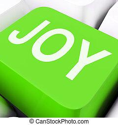 albo, radość, podły, szczęśliwy, cieszyć się, klawiatura