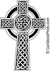 albo, symbol, sztuka, -, celtycki, capstrzyk, krzyż