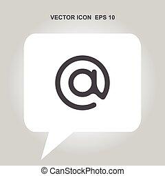 albo, wektor, email, ikona