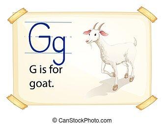 alfabet, g