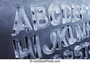 alfabet, lód
