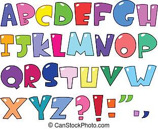 alfabet, rysunek