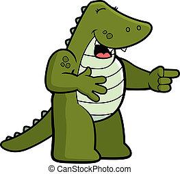 aligator, śmiech