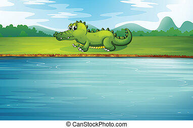 aligator, nadrzecze