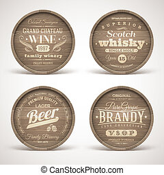 alkohol, pije, beki, drewniany