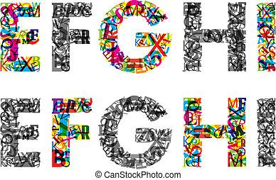 alphabet., eps10, barwny, beletrystyka