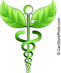 alternatywa, wektor, symbol, medycyna