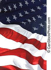 amerykańska bandera, pionowy, prospekt