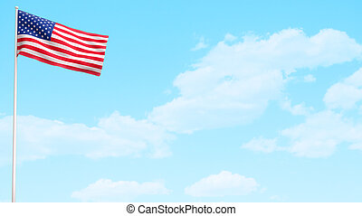 amerykańska bandera, usa, dzień