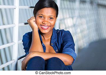 amerykańska kobieta, młody, afrykanin