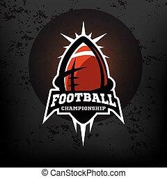 amerykańska piłka nożna, logo., mistrzostwo
