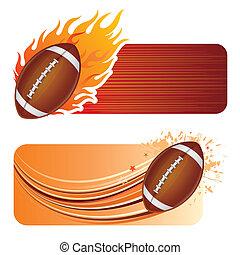 amerykańska piłka nożna, płomienie