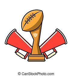 amerykańska piłka nożna, sport, gra, kartony
