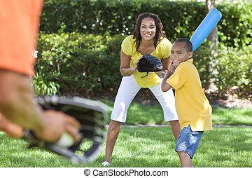 amerykański baseball, interpretacja, rodzina, afrykanin