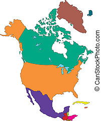ameryka, północ, kraje