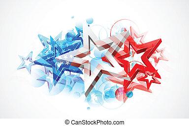 amerykanka, abstrakcyjny, bandera, tło