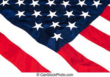 amerykanka, closeup, bandera