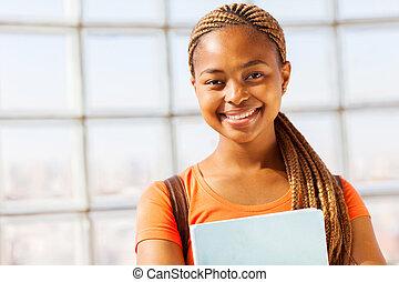 amerykanka, młoda dziewczyna, afrykanin