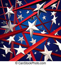 amerykanka, pasy, gwiazdy