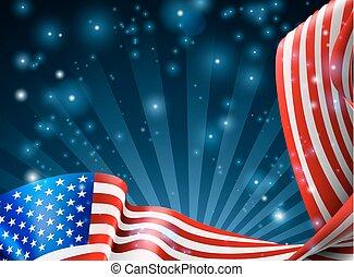 amerykanka, projektować, bandera, tło
