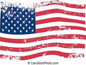 amerykanka, wektor, bandera