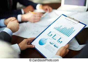 analiza, zrobienie, handlowy