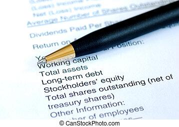 analizować, finansowa deklaracja
