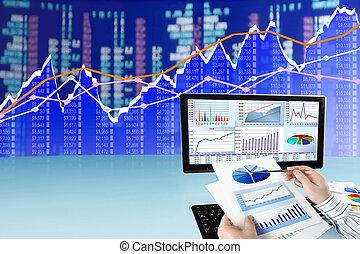 analizując, komputerowe dane